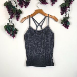 Athleta Tops - Athleta Charcoal Gray Harmonious Racer Back Top